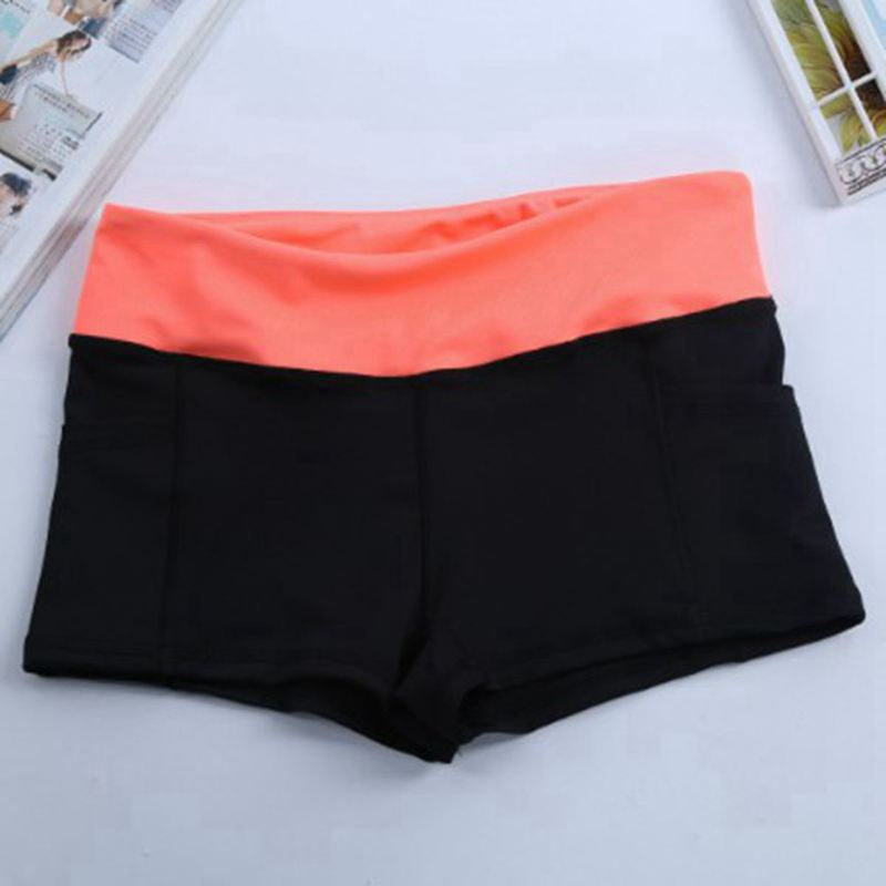 5 color 2017 Fashion Summer Women Shorts Women's pockets Casual Quick-drying Elastic waist patchwork Cool Stretch Fitness short