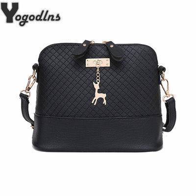 HOT SALE!2018 Women Messenger Bags Fashion Mini Bag With Deer Toy Shell Shape Bag Women Shoulder Bags handbag