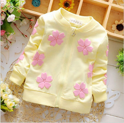 0-2 year old female baby fashion new cotton long sleeve flower clothes + free gift - upcube