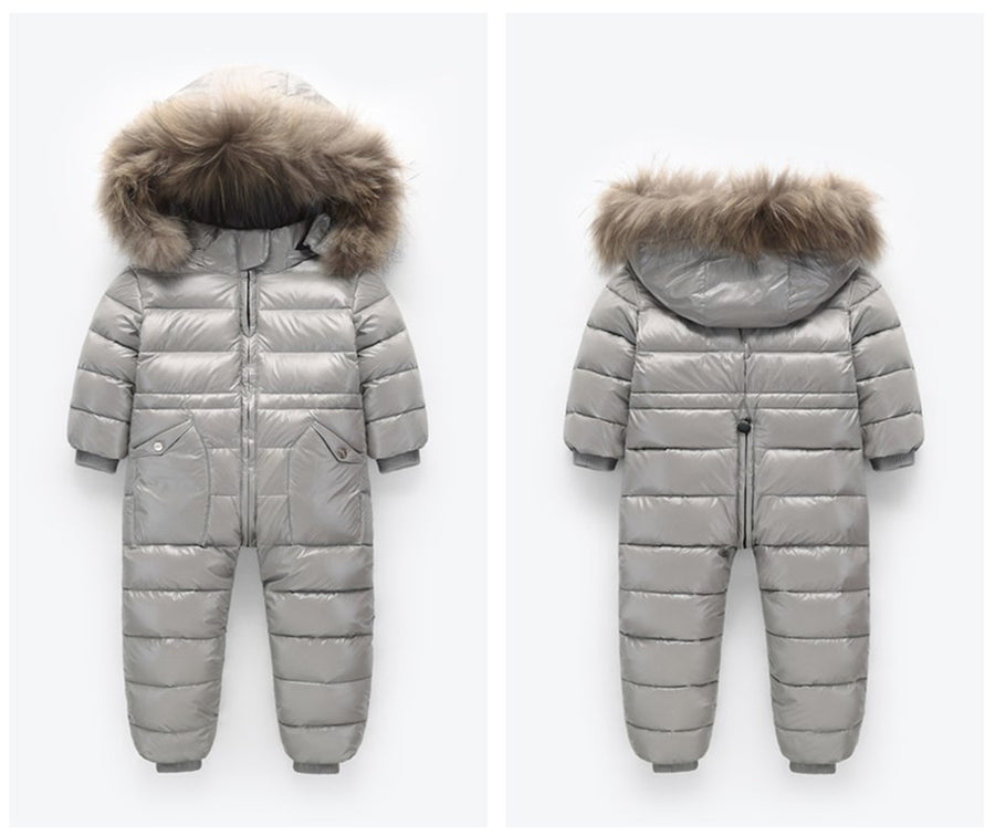 -30 Russian Winter Snowsuit 2018 Boy Baby Jacket 80% Duck Down Outdoor Infant Clothes Girls Climbing For Boys Kids Jumpsuit 2~5y - upcube