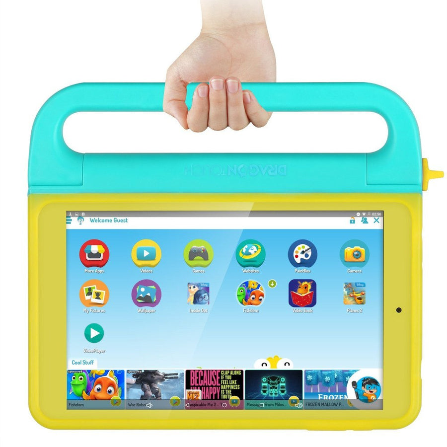 Dragon Touch K8 8inch Kids Tablet Kidoz Pre-Installed 2GB RAM 16GB Nand Flash IPS Display Android 6.0 Marshmallow Android Tablet