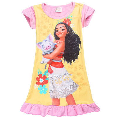7de05d195ad New Summer Vampirina Dresses for Girls Princess Birthday Party Dress  Children Moana Trolls Costume Kids Clothes Vestido Clothing