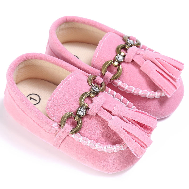 2017 Autumn Winter Toddler Baby Flock Tassels Prewalker Newborn Soft Sole Shoes Anti-slip Little Girl Crib Shoes 0-18M