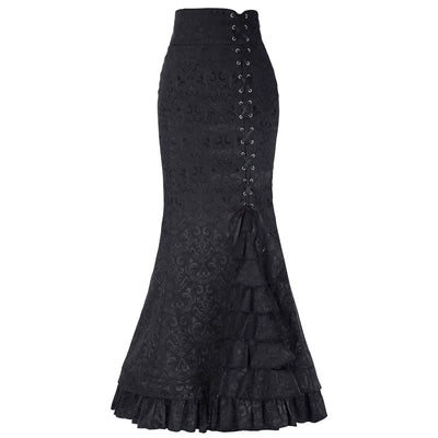 a30526d79b201 Belle Poque Long Skirts Womens Victorian Vintage Gothic Mermaid Skirt  Corset Lace-Up Floor Length