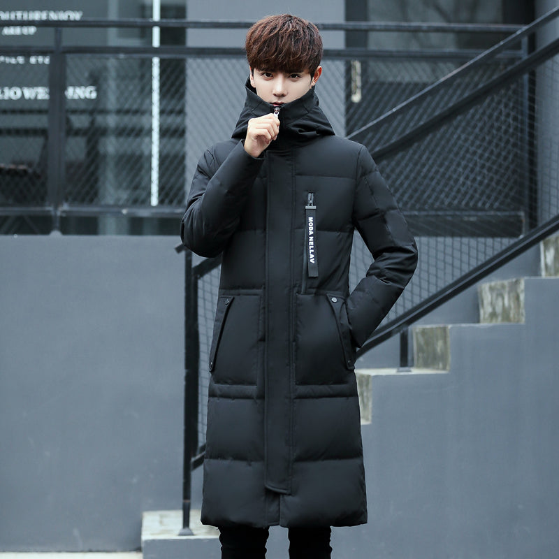 a1723b558 Winter Men's Extra Long Thick Down Jackets Men Hooded White Duck Down Coats  Casual Down Parkas Male Winter Overcoats JK-1766
