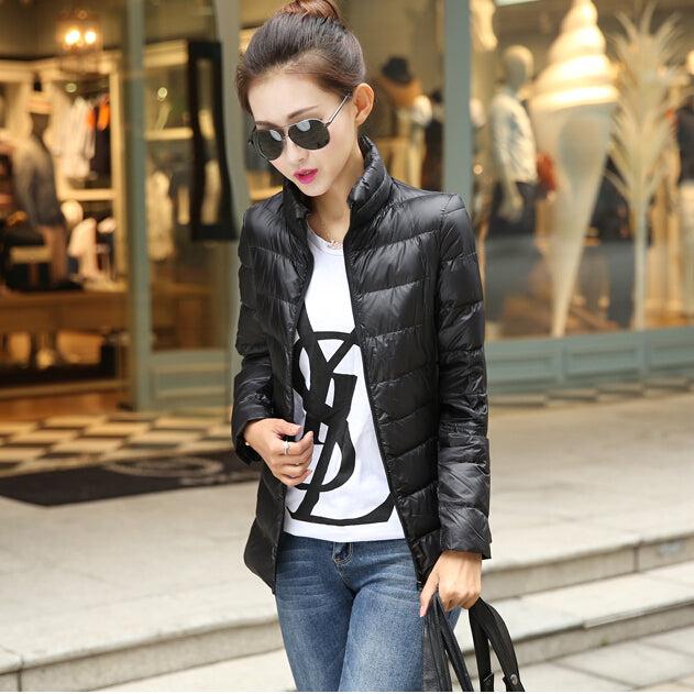 2017 New Fashion Ladies Winter Ultra Light Down Jacket Women Brand Designer 90% White Duck Down Coats Jackets Plus Size