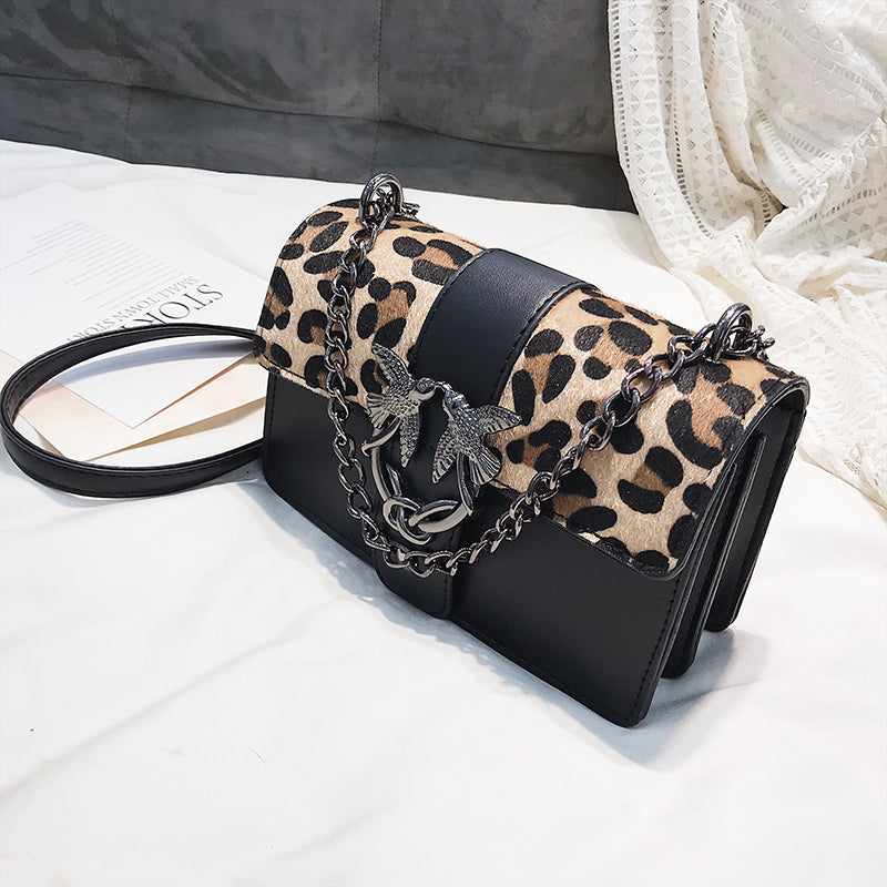 Women's Crossbody Bag Leopard Small Flap Fashion Trendy Chains Bag Female Famous Brands luxury handbags Women Bag Sac A Main