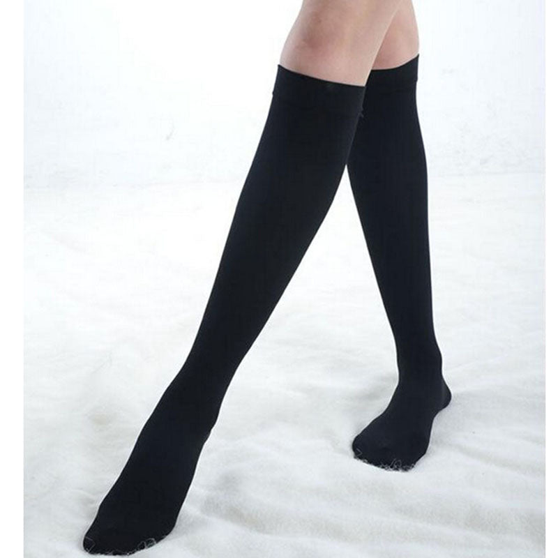 New All-match Half Socks Knee High Socks Calf Support Comfy Relief Black Cotton Socks Useful Leg Warmers Medium stockings