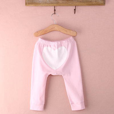 1pc Autumn Winter Kids Boy Girl Infant Baby Heart Printed Cotton Harem Pants Drawstring Trousers Bottoms Baby Clothing  UpCube- upcube