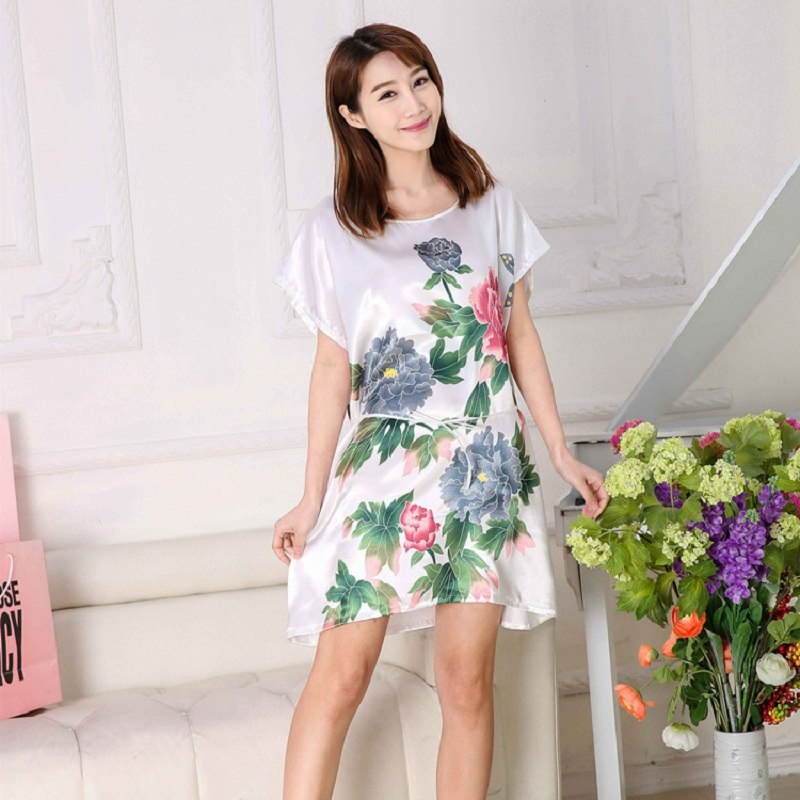 2018 women nightwear night summer dress nightgown girls sleepwear lingerie casual robe home nuisette