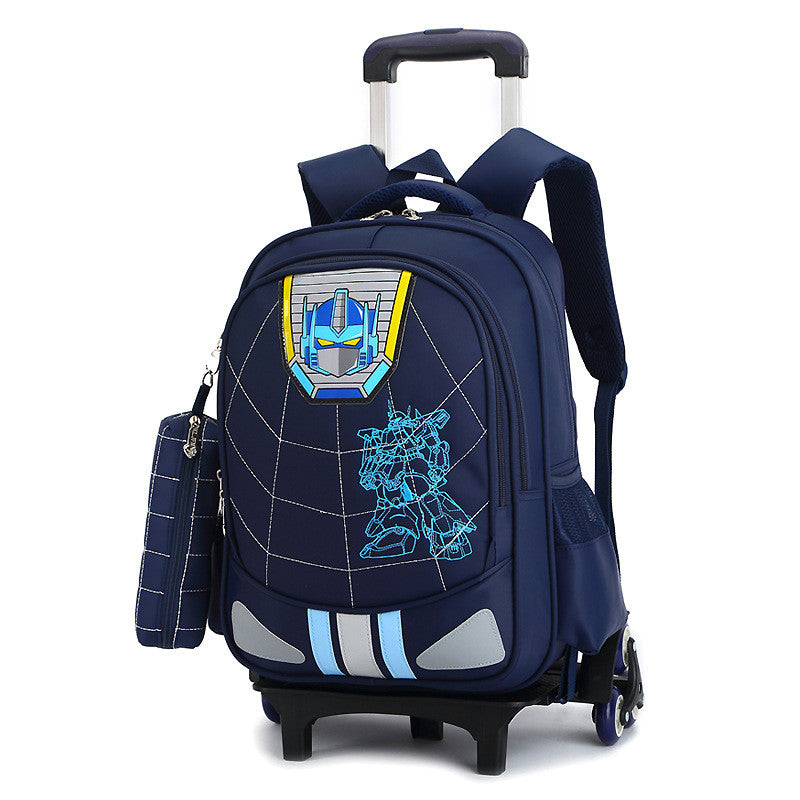 fd92564d6c New Kids 2 6 Wheels Removable Trolley Backpack Wheeled Bags Children School  Bag for Boys