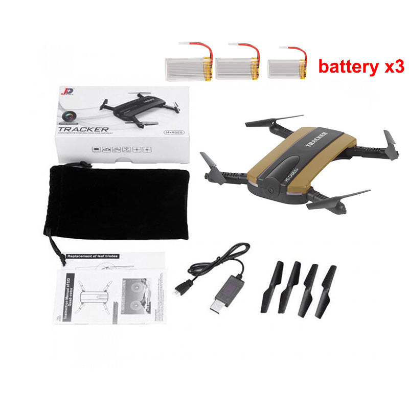 JXD 523 Tracker Quadcopter FPV Mini Foldable Drone With WIFI Camera HD RC  Helicopter G-sensor Mode Altitude Hold Toy VS JJRC H37