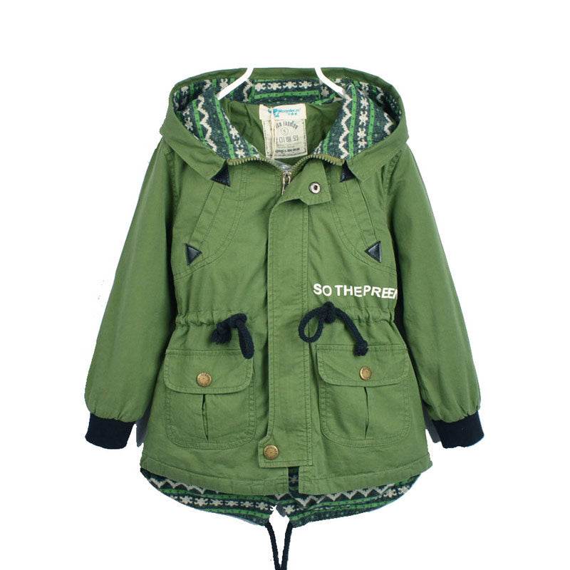 6b66a688a Jacket for baby boys and girls Children Army Green Jacket Kids Abolero