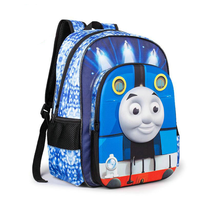 NEW Spinal Care Kids Bags students BooK Bags Machila For Kids Leather Backpack For School Thomas & Friend Kids Book Backpack