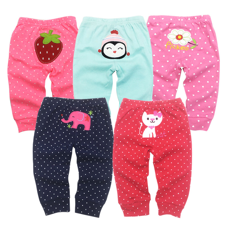 PP Pants 5pcs/lot 2018 Baby Fashion Model Babe Pants Cartoon Animal Printing Baby Trousers Kid Wear Baby Pants 0-24M