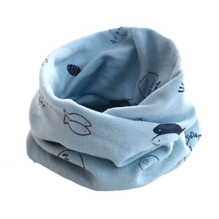 1 PC Fashion Design Autumn Winter Boys Girls Collar Baby Scarf Cotton Cartoon Print O Ring Neck Scarves Wholesale