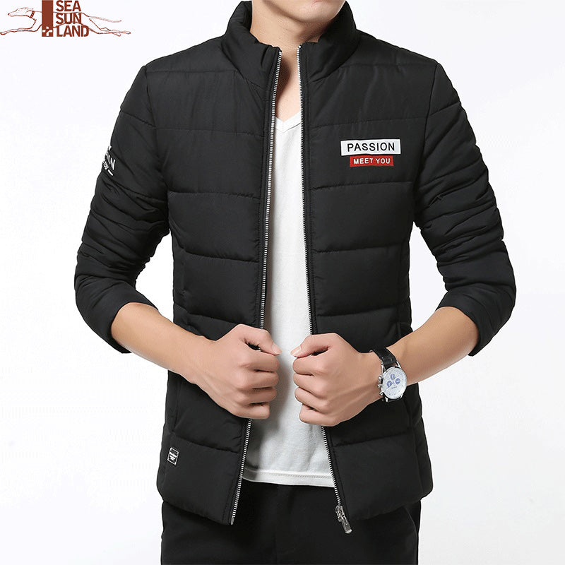 3eefbe685a0 2017 Brand New Winter Men Jacket Casual Mens Warm Jackets Cotton-Padded  Coats Thick Parka