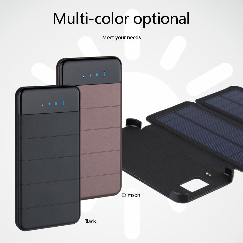 Solar Power Bank 20000mAh  Waterproof Solar Charger External Battery Backup Pack for Cell Phone Tablets for xiaomi iponex