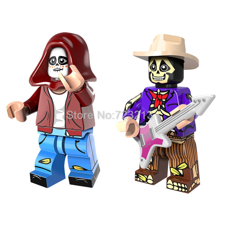Single Sale Hector Rivera Miguel Figure Set Mexico Movie Coco Model Building Blocks kits Brick Toys for Children PG1215 PG1216