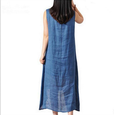 b1d548e9a8ac0 2017 Linen Vintage Long Maternity Dresses Clothes For Pregnant Women  Clothing Chinese Style Print Plus Size