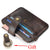100% Cowhide Leather Thin Credit Card Holder Mini Wallets Key Holder for Bank Credit Card Case Bags Small Cash Purse Clip Pocket