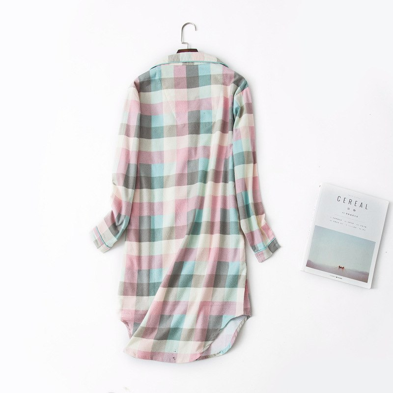 ZOOLIM Plus Size XLL Winter Nightdress Nightgowns Women Sleepshirts 100% Brushed Cotton Night Shirt Long Sleeve Sleepwear