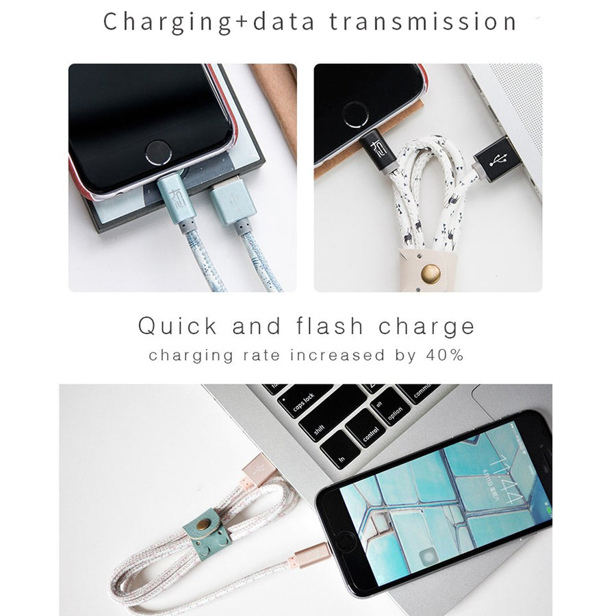 ELFTEAR With Storage Box USB Cabl Fast Charge USB Data Cable for Samsung Xiaomi LG Tablet Android Mobile Phone USB Charging Cord