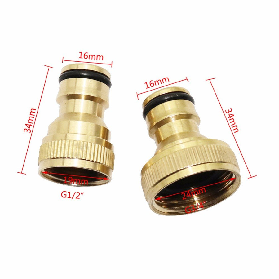 "1pc 1/2"" and 3/4"" Female Thread Brass Copper Quick Connectors joints Home Garden Watering Accessories Car Washing Pipe Fittings"