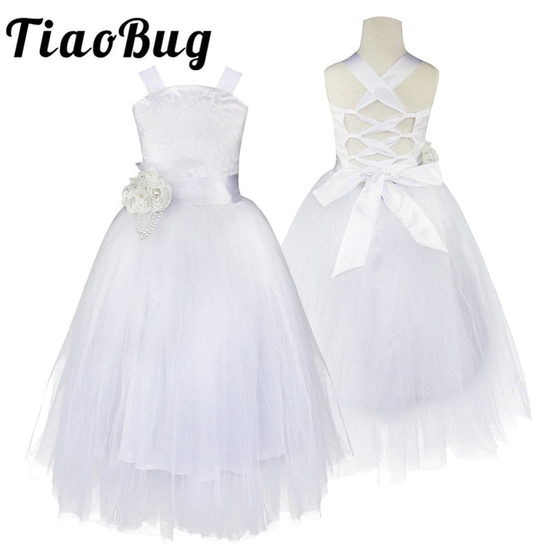 8622fbb4ae1 2-14 Teenage Kids Flower Girls Dress for Party and Wedding Floral Girl Dress  Ball