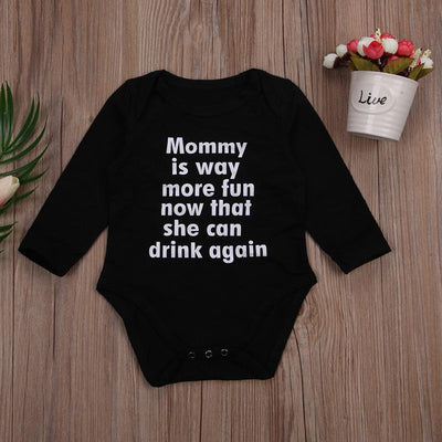 0-24M Newborn Baby Boy Girl Long Sleeve Letter Print Cotton Clothes Toddler Kids Jumpsuit One Pieces Outfits - upcube