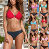 MUQGEW Fashion Summer Swimwear Women Bandeau Bandage Bikini Set Push-Up Brazilian Swimwear Beachwear Swimsuit #1219