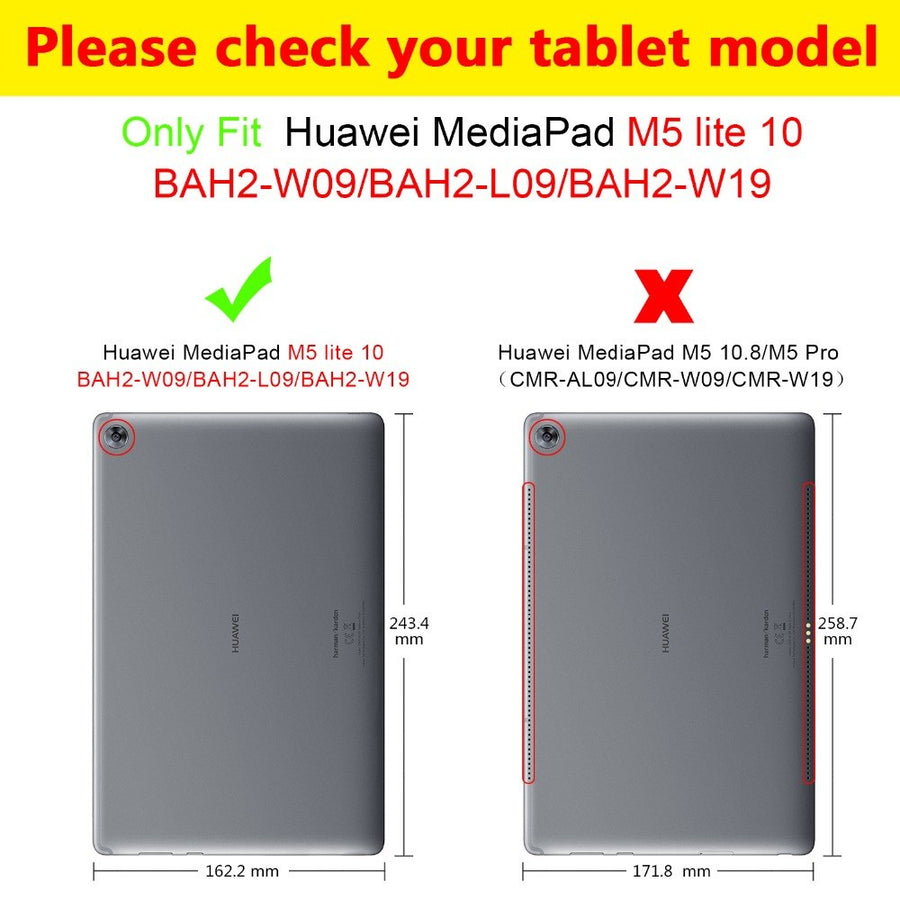 "Ultra Slim Case For Huawei MediaPad M5 lite 10 BAH2-W19/L09/W09  10.1""Tablet PC stand cover for huawei mediapad M5 lite 10 case"