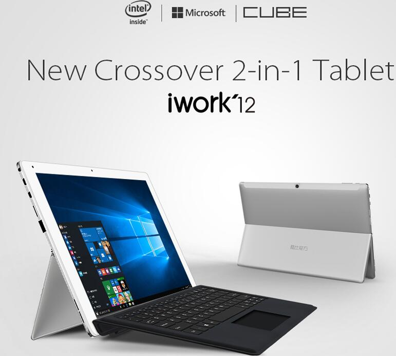 Newest! 12.2'' IPS Cube Iwork12 Win10 + Android5.1 Tablet 12.2 inch IPS Screen Z8300 1.44GHz 4GB RAM 64GB ROM Bluetooth 4.0 HDMI