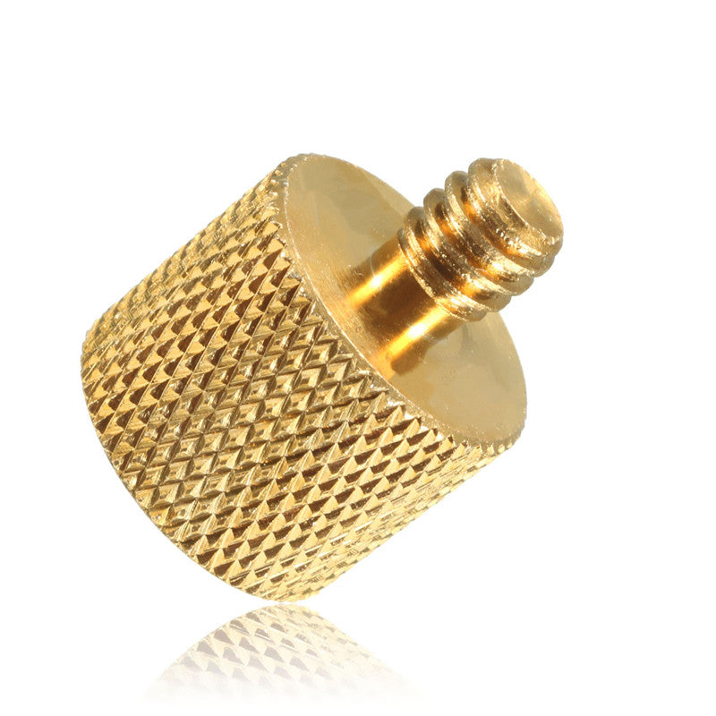 3/8 inch Female to 1/4 inch Male Tripod Thread Reducer Adapter Brass Copper For Camera tripod Diameter of screw 6mm