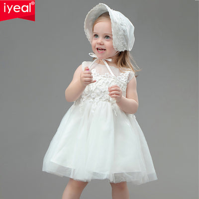 47c11afe0a72 IYEAL Baby Girl Pageant Wedding Dresses + Hat Infant Princess Little G
