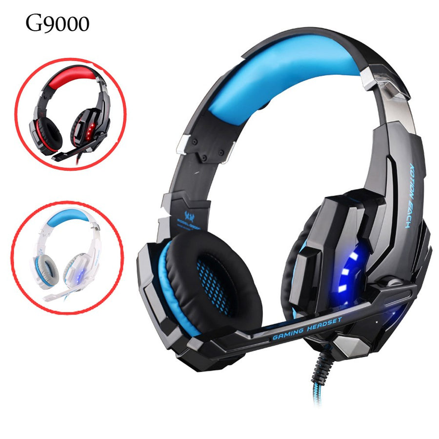 G2000 G9000 Gaming Headsets Big Headphones with Light Mic Stereo Earphones Deep Bass for PC Computer Gamer Tablet PS4 X-BOX