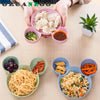 1 PC Creative Cartoon Plate Pure natural wheat straw Lovely Lunch Tray Dishes Kids Bowl Dinnerware Children's Plastic Tableware - upcube