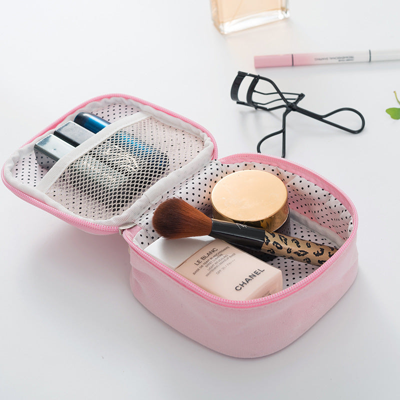 small fresh waterproof cotton cloth lipstick candy color packing cubes storage bag handbags small package Mini Cosmetic Bag