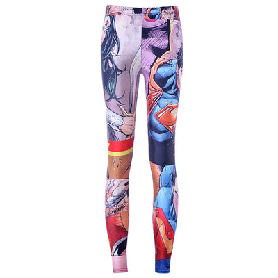 ae6a5ce2272d3 New Arrival 3759 Sexy Girl Superhero The Avengers Iron Man Printed Elastic  Fitness Polyester Workout Women