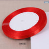 0.6cm 22 Meters Lone Single Face Satin Ribbon Wholesale gift packing Wedding Crafts Christmas White Pink Red Black Ribbons - upcube