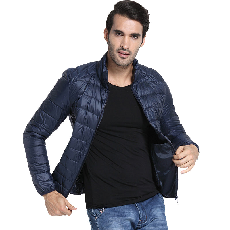 f7bcf621ec6 New Designer Autumn Winter Men s Down Jacket Casual Coat Fashion Waterproof  Jacket Men 90%Down