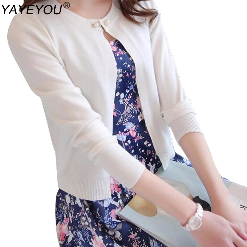 149122814a Solid Fashion Women Sweater Female Cardigan Thin Outerwear New Summer Short  Design Sweaters Long-sleeve