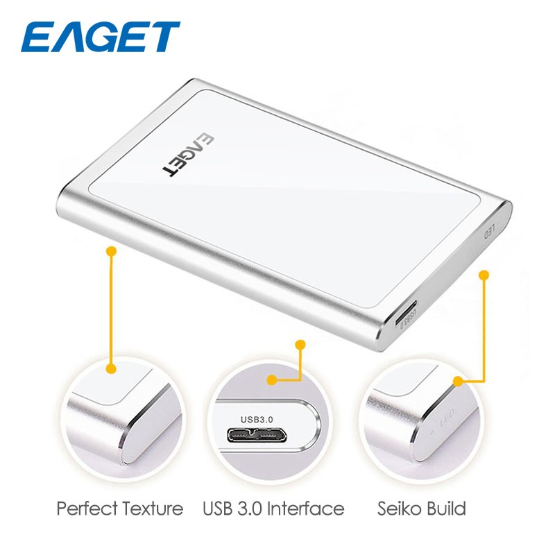 Eaget Meatal Exrernal Hard Ddrive 1TB USB 3.0 High Speed Hard Disk 500GB 2TB HDD 2.5 For Laptop Tablet PC Storage Devices G90