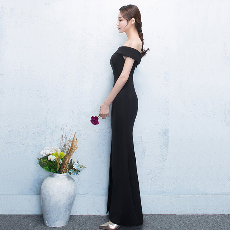 5e4ce7412742b DongCMY WT3067 Prom dresses 2018 new Sexy long black color fashion plus  size evening Sweet Party Gown