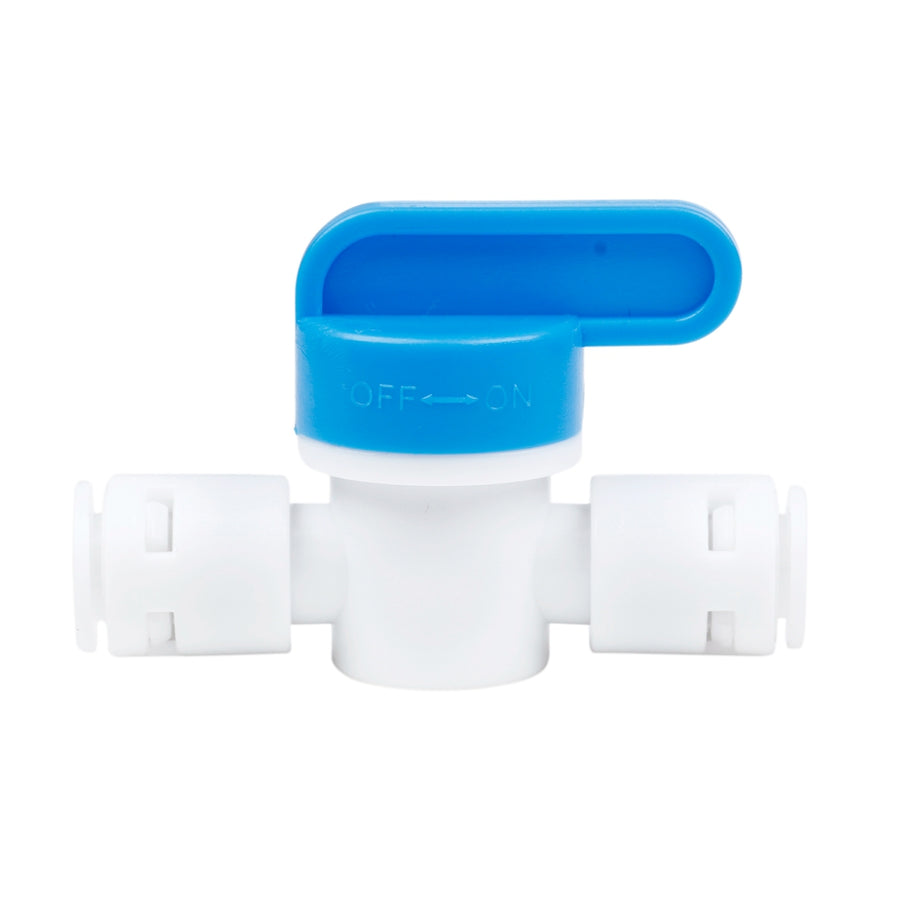 """1/4"" Inline ball Valve Push Fit Filter for RO Water Reverse Osmosis System HG2796 - upcube"