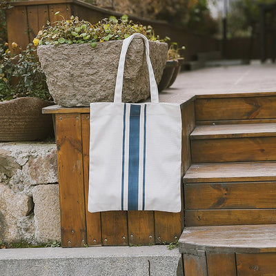 Stripe Print Minimalism Tote Canvas Handbag Women Shoulder Bag Shopping Pouch Bolsa Feminina Para Mujer Travel Bags For Women