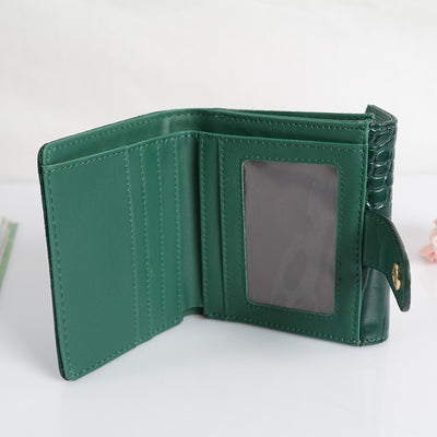 7bb8f7e2bddc Patent Leather Women Short Wallets Ladies Fashion Small Alligator Wallet  Coin Purse Female Card Wallet Purse