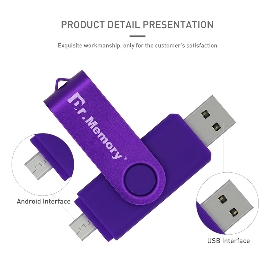 Dr.Memory OTG USB/Flash/Drive Metal USB/Stick/Memory Pen Drive/8GB 16GB 32GB 64GB Pendrive For Android Smart Phone Tablet PC