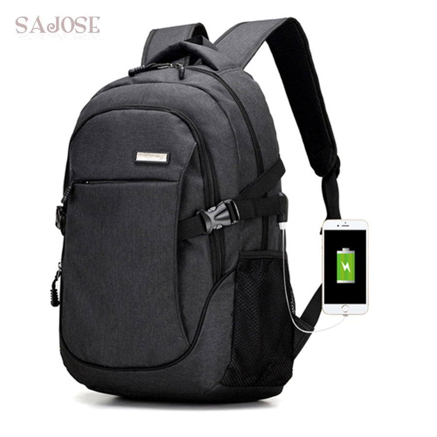 Backpack With USB Multifunction Anti Thief Charging Unisex Mochila Leisure Travel Women Laptop Backpacks For Teenager SAJOSE
