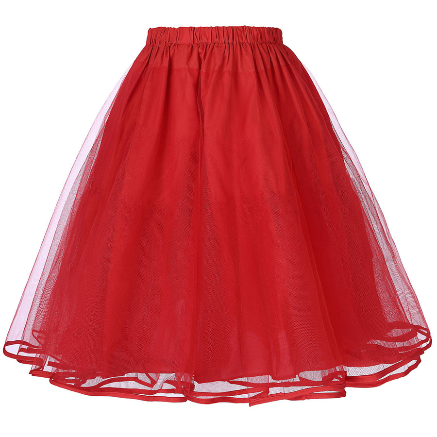 Tulle Skirts Rockabilly Swing Petticoat Underskirt Women Summer Skirts Vintage Black White Wedding Bridal Crinoline Tutu Skirt